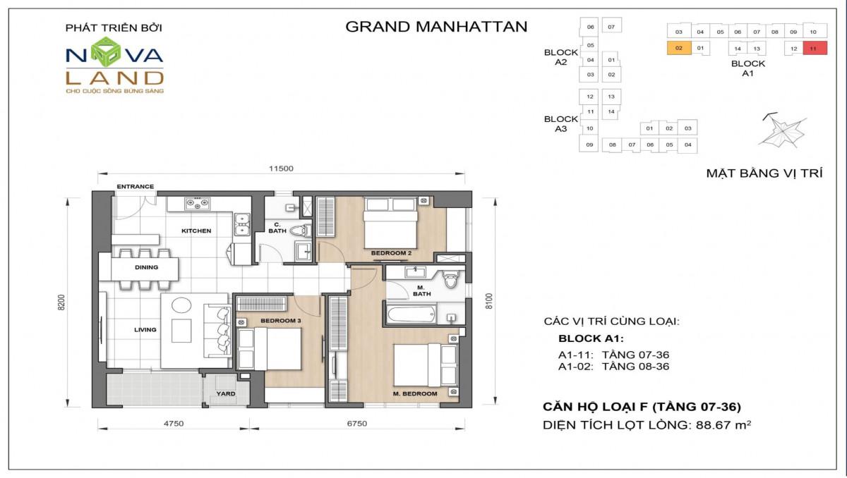 The Grand Manhattan can ho loai F